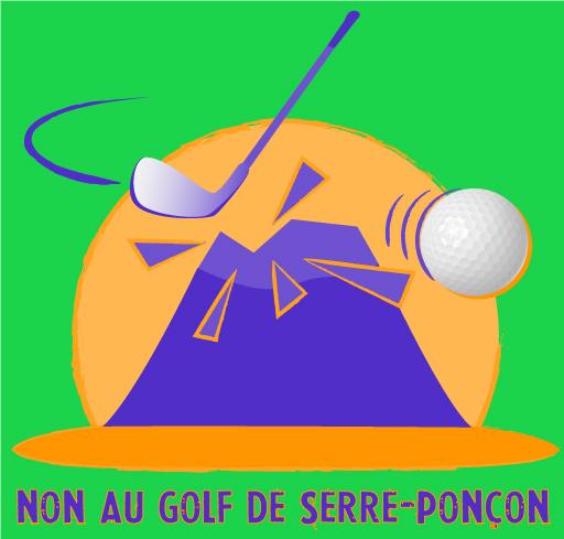 Logo de la Zad du lac, Non au golf de Serre-Ponçon !